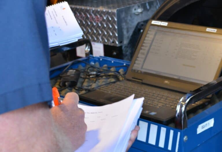 Cummins INSITE software used to diagnose CNG vehicle